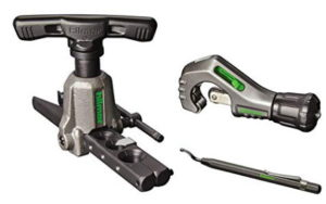 Hilmor 1937685 Orbital Flare Kit with Tubing Cutter and Deburring Tool